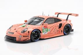 Porsche 911 RSR GTE Pink Pig 2018 1:18