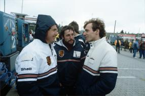 Klaus Bischof und Stefan Bellof am Nürburgring 1983, Copyright Foto: Porsche AG