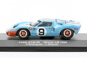 miniatures Ford GT40 Gulf No. 9 winner Le Mans 1968 1:43