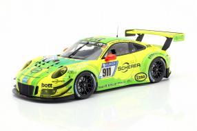 Porsche 911 GT3R Manthey Racing Grello 2017 1:18