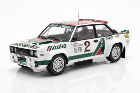 Fiat 1314th  Rallye Monte Carlo 1978 1:18