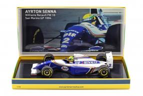 modelcars miniatures Williams FW16 San Marino GP Senna 1:18 Minichamps