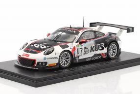 Modellautos Porsche 911 GT3 R No. 117 24 Spa 2017 1:43