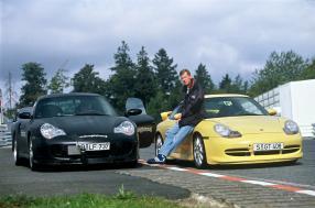 Walter Röhl bei der Entwicklung 1999, copyright Foto: Porsche AG