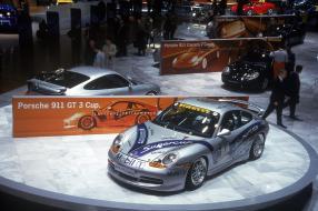 Premiere 911 GT3 Genf 1999, copyright Foto: Porsche AG