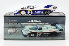 diecast miniatures Stefan Bellof Porsche 956 Nürburgring 1983 1:18 Minichamps