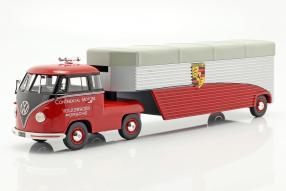 Schuco Porsche Renntransporter Volkswagen T1 Modellautos 1:43