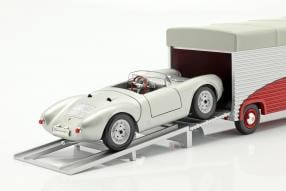 Modellautos Porsche Renntransporter Volkswagen T1 1:43
