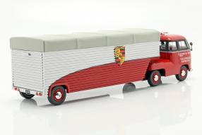Porsche Renntransporter Volkswagen T1 Modellautos 1:43