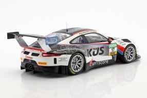 diecast miniatures Porsche 911 GT3 R KÜS Tem75 ADAC GT Masters 2017 1:18