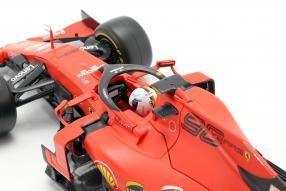 diecast miniatures Ferrari SF90 2019 Vettel Bburago 1:18