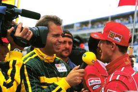 Kai Ebel und Michael Schumacher 1994, copyright Fotos: RTL Kommunikation, TVNow