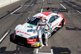 René Rast und der RS 5 DTM 2019, copyright Foto: Audi Communications Motorsport, Michael Kunkel