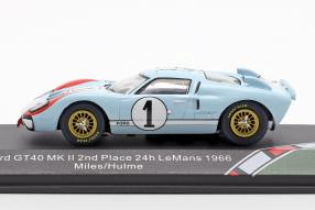diecast miniatures Ford GT40 Mk. II 2nd 24h Le Mans 1966 1:43
