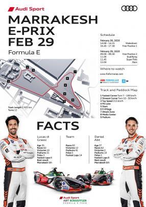 Zeitplan Formel E Marrakesh, copyright Audi AG