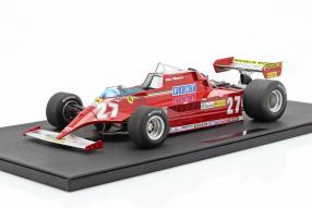 miniatures Ferrari 126CK 1981 1:12 Villeneuve