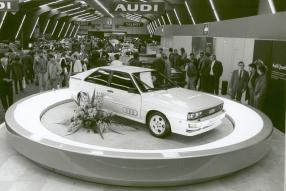 Audi quattro 1980 in Genf, copyright Foto: Audi AG