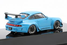 diecast miniatures Porsche 911 993 Rauh-Welt rivierablau 1:43