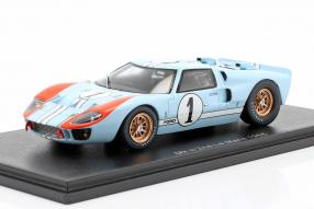 miniatures Ford GT40 Mk. II 2nd 24h Le Mans 1966 1:43