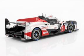 modellautos Toyota TS050 hybrid No. 8 Le Mans 2018 1:18