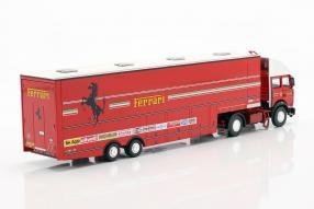 Modellautos Renntransporter Ferrari Fiat 190 1981 1:43 Brumm