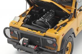 diecast miniatures Land Rover 90 1985 Camel Trophy 1:18