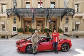 Claude Lelouch, Charles Leclerc, Ferrari SF90 Stradale, copyright Foto: Ferrari S.p.A.