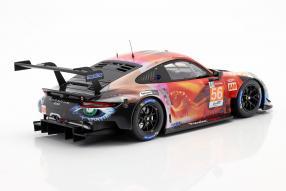 modellautos Porsche 911 RSR Nr. 56 LMGTE Am Le Mans 2019 1:18