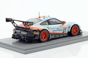 miniatures Porsche 911 GT3 R No. 20 winner 24h Spa 2019 dirty race version 1:43 Spark