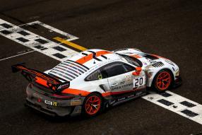 Ziellinie: Porsche 911 GT3 R No. 20 winner 24h Spa 2019, copyright Foto: Porsche AG