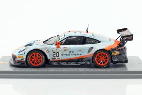 modelcars Porsche 911 GT3 R No. 20 winner 24h Spa 2019 dirty race version 1:43 Spark