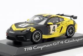 Modellautos Porsche 718 Cayman GT4 Clubsport 2019 1:43