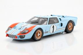 miniatures Ford GT40 Mk. II 2nd 24h Le Mans 1966 1:18 Spark