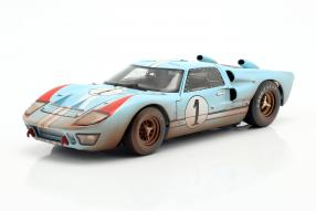 modelcars Ford GT40 Mk. II No. 1 dirty version 2nd Le Mans 1966 1:18 Shelby Collectibles