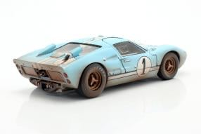 Ford GT40 Mk. II No. 1 dirty version 2nd Le Mans 1966 1:18 Shelby Collectibles
