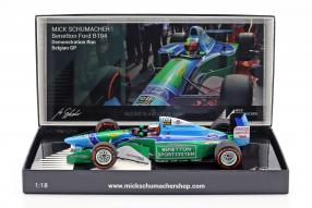 Schumacher Demo Run Spa 2017 F1 Benetton B194 1:18