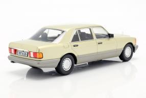 diecast miniatures Mercedes-Benz W126 1985 1:18
