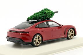 diecast miniatures Porsche Taycan Turbo S 2019 1:43 christmastree