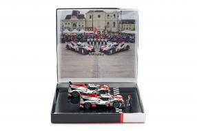 Toyota TS050 Hybrid WEC Set 1:43 Spark Finish Le Mans 2018