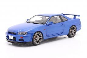 Nissan Skyline GT-R 1999 bayside blau Solido