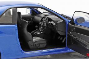 Modellautos Nissan Skyline GT-R 1999 bayside blau Solido