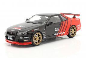 modelcars Nissan Skyline GT-R 1999 Advan-livery Solido