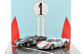 Ford GT40 Mk. II No. 2 and 1, 1st and 2nd Le Mans 1966 1:43