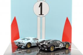 modelcars Ford GT40 Mk. II No. 2 and 1, 1st and 2nd Le Mans 1966 1:43