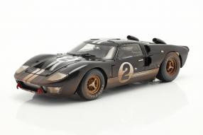 Ford GT40 Mk. II No. 2 dirty version 1st Le Mans 1966 1:18 Shelby Collectibles