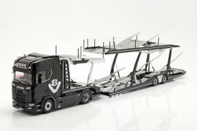 Scania V8 730 S mit Auflieger Lohr 1:18 NZG