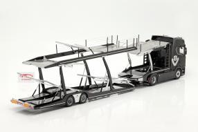 Set Scania V8 730 S mit Auflieger Lohr 1:18 NZG