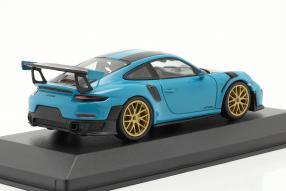 diecast miniatures Porsche 911 GT2 RS Weissach Package 2018 1:43 Sondermodell