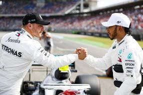 Bottas und Hamilton Deutschland GP Samstag 2019, copyright Foto: Daimler AG