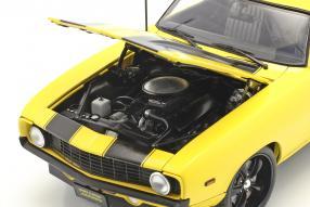 diecast miniatures Chevrolet Camaro Z/28 Yellow Jacket 1969 1:18 GMP